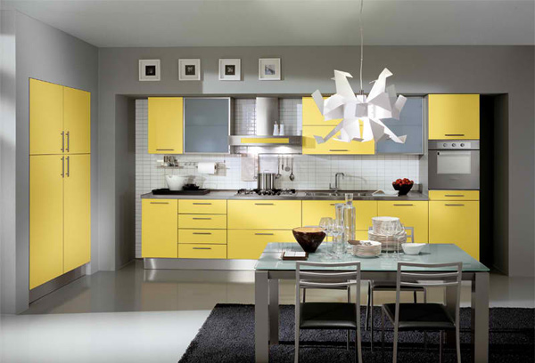 15 yellow modular kitchen ideas home design lover Yellow and gray kitchen decor
