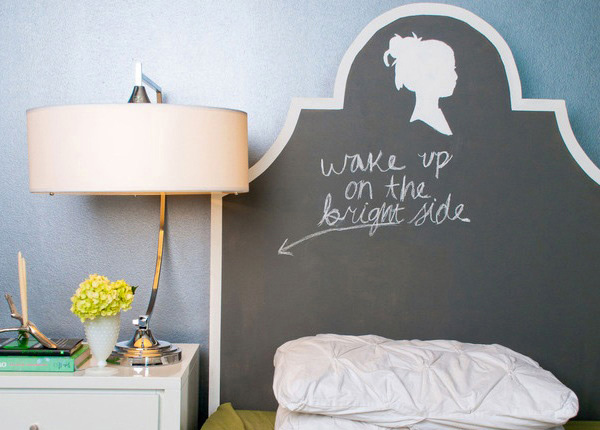 Chalkboard Paint Headboard