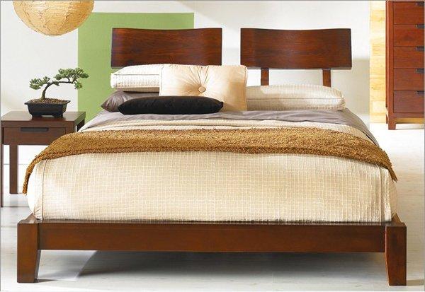 Mahogany Japanese Bed