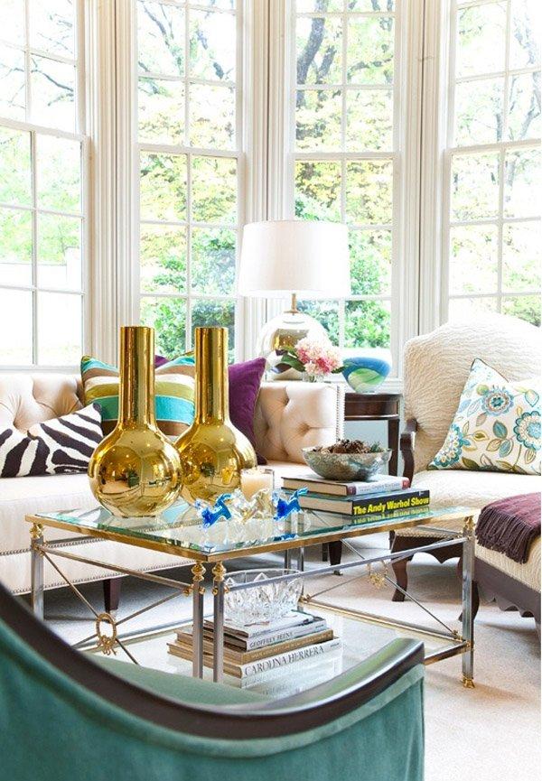 metallic golden vase