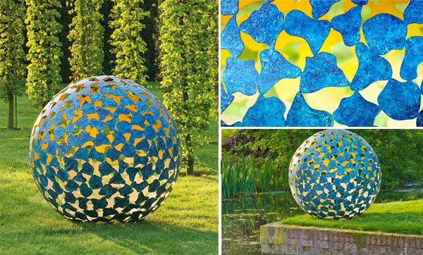 Landscape Garden Art : Smartly designed modern spherical garden sculptures