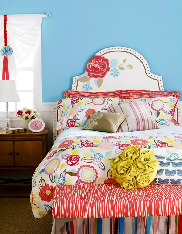 Floral Painted Headboard