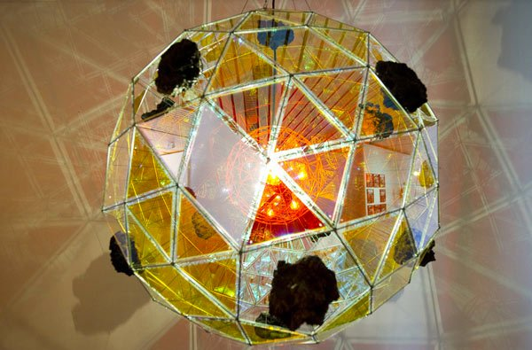 Divine Comedy Geodesic Sphere Sculpture