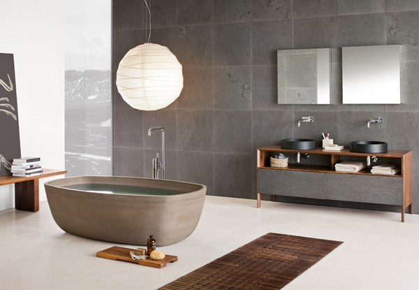 20 exceptional and relaxing contemporary bathroom designs for Bathroom designs modern zen