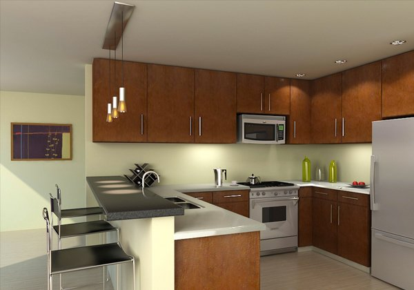 kitchen brown