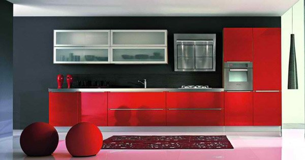Red Orange Kitchen 15 stunning red kitchen ideas | home design lover