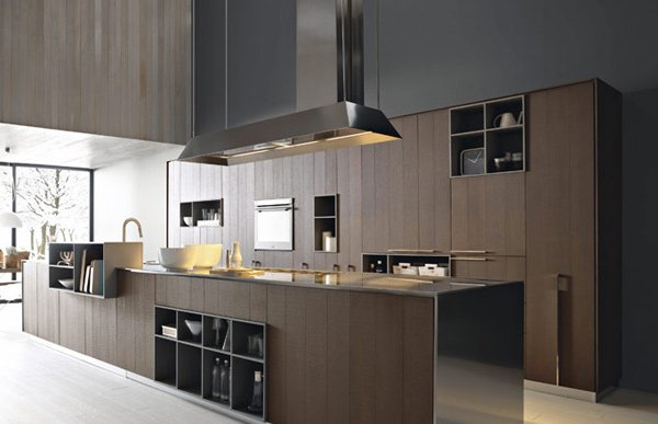 20 sleek and natural modern wooden kitchen designs home for Sleek modern kitchen ideas
