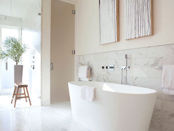 20 Exceptional And Stylish White Bathroom Designs Home Design Lover