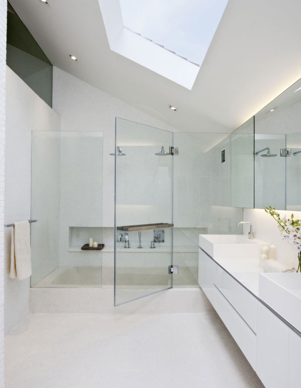 20 Exceptional And Stylish White Bathroom Designs | Home Design Lover