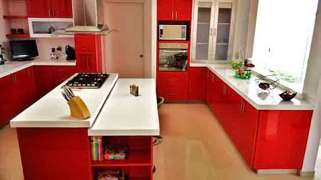 15 stunning red kitchen ideas home design lover - Red Kitchen Ideas