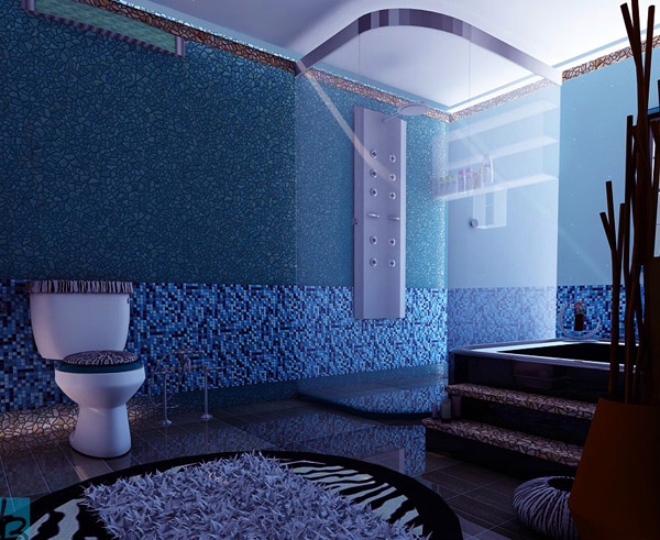 18 cool and charming blue bathroom designs home design lover for Bathroom designs blue