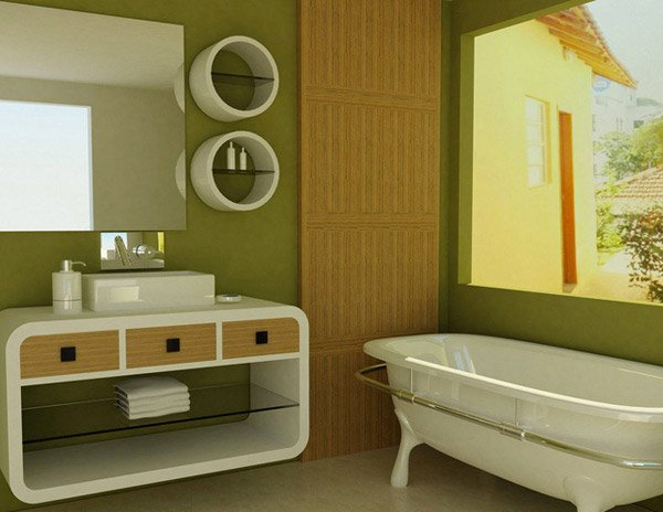 Decorating Ideas > 18 Relaxing And Fresh Green Bathroom Designs  Home Design  ~ 135939_Bathroom Decorating Ideas Green