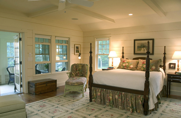 country inspired bedroom