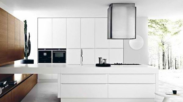 Modern White Kitchen Cabinets 18 modern white kitchen design ideas | home design lover