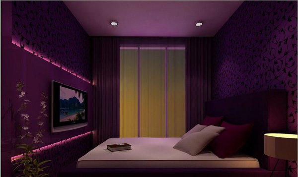 15 ravishing purple bedroom designs home design lover for Bedroom designs purple