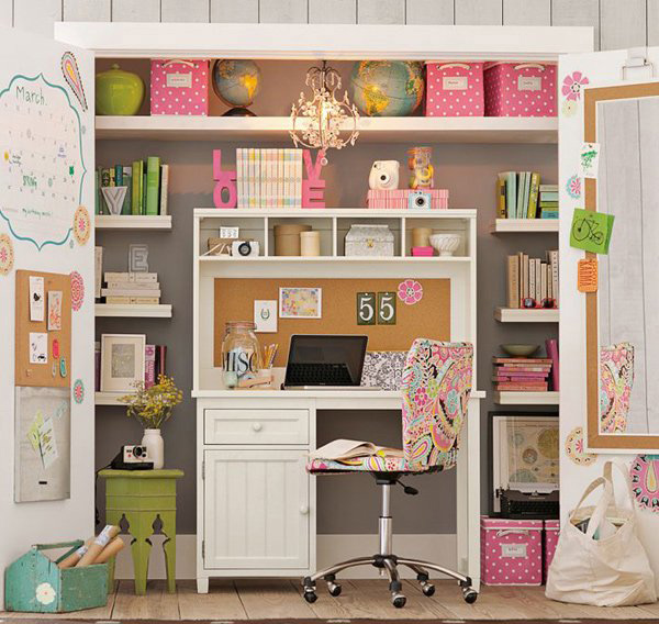 Closet Office Idea 600 x 600