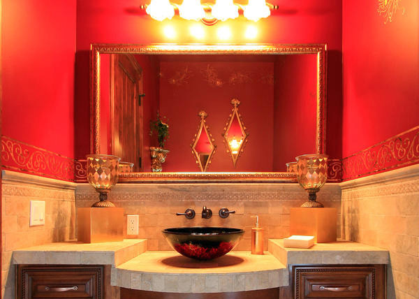 Smart Red Vanity Bath