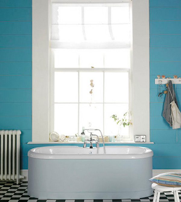 Blue White Bath