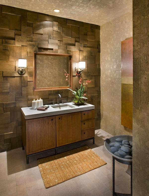 20 beautifully done wooden bathroom designs home design for Rustic tile bathroom ideas