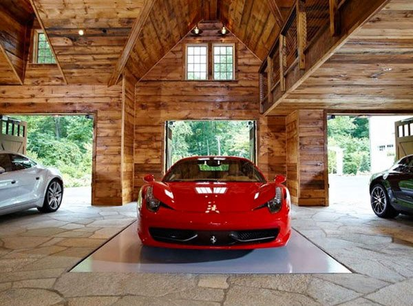 Luxury House And Car every man's dream structure- a creative and luxurious house garage