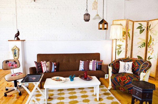 Vintage Eclectic Living Room Ideas