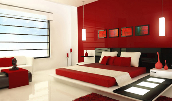 red bedroom houzz - Images Of Master Bedroom Designs