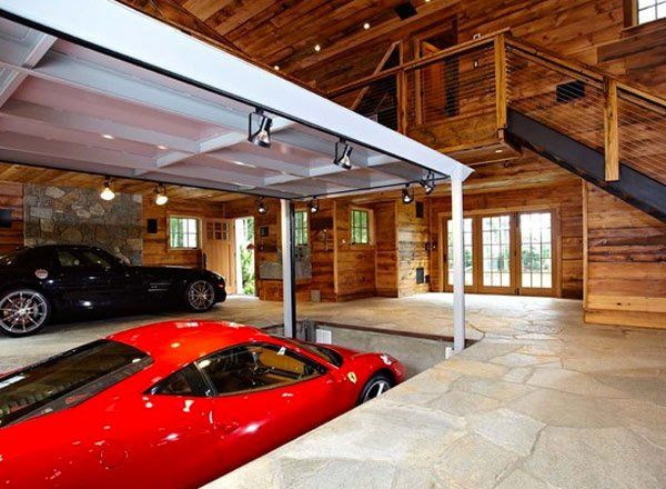 Every man 39 s dream structure a creative and luxurious for Luxury garage interiors