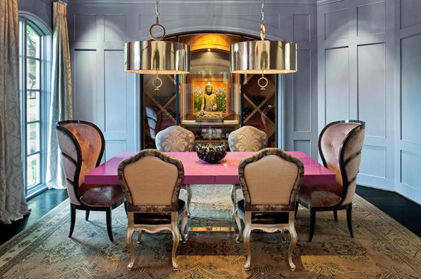 20 eclectic dining room designs home design lover for Eclectic dining room designs