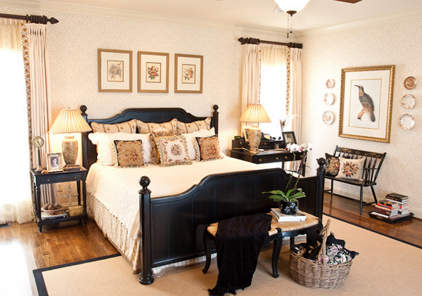 15 pretty country inspired bedroom ideas home design lover Bedroom design ideas with black furniture