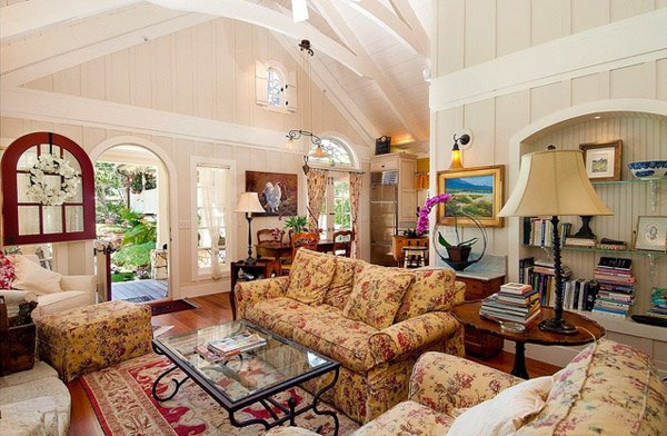 15 Warm and Cozy Country Inspired Living Room Design Ideas  : 7 Traditional Living from homedesignlover.com size 600 x 392 jpeg 69kB