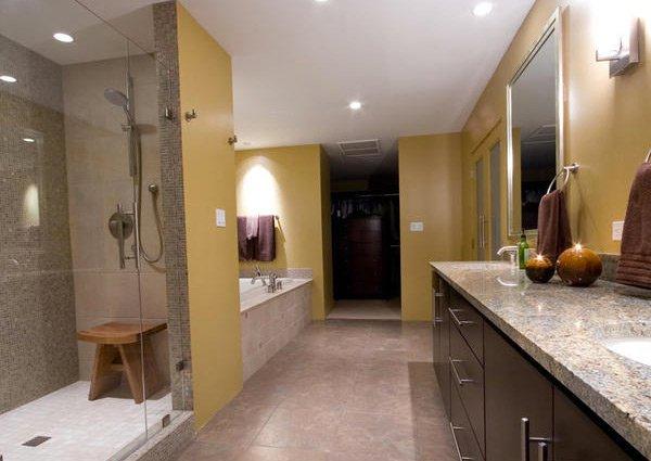 16 beige and cream bathroom design ideas home design lover for Master bathroom designs 2012