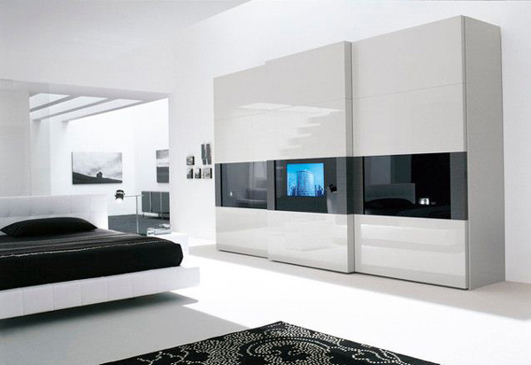 Modern Black And White Bedroom 16 classy black and white bedroom designs | home design lover