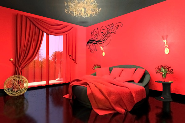 15 invigorating red bedroom designs home design lover for Bedroom ideas red