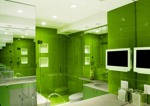 Green Contemporary Bath