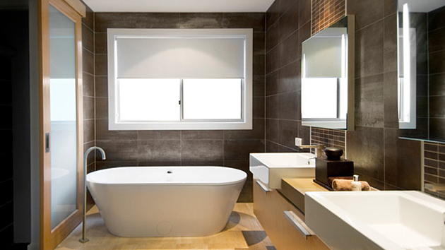 Bathroom Decorating Ideas With Brown : Sophisticated brown bathroom ideas home design lover