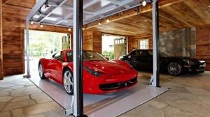 a house garage luxury