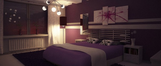 15 Ravishing Purple Bedroom Designs