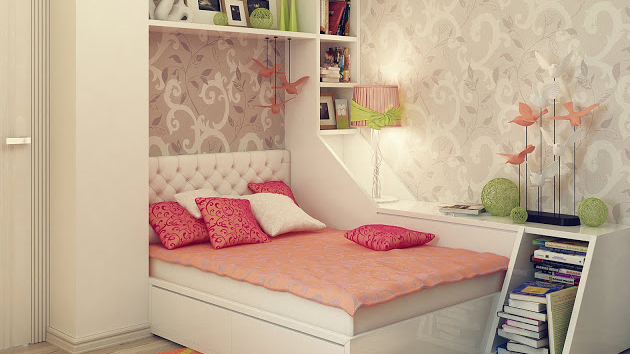 20 stylish teenage girls bedroom ideas home design lover Simple teenage girl room ideas