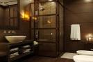 a wooden bathroom designs