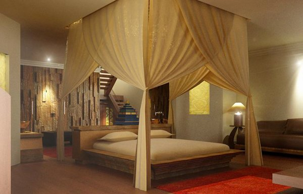 16 sensual and romantic bedroom designs home design lover for Romantic master bedroom designs