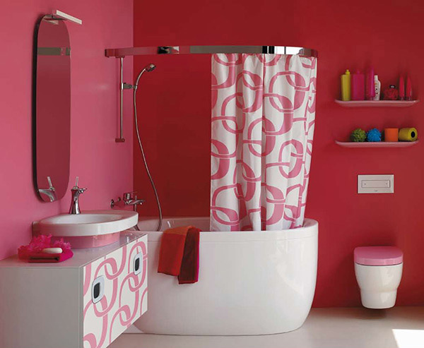15 chic and pretty pink bathroom designs home design lover for Pretty small bathroom ideas