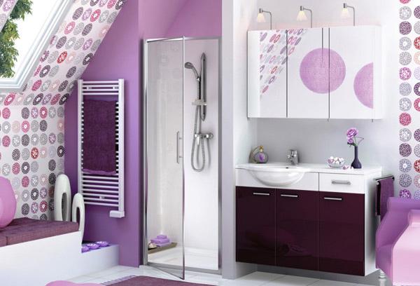 lavender shower area