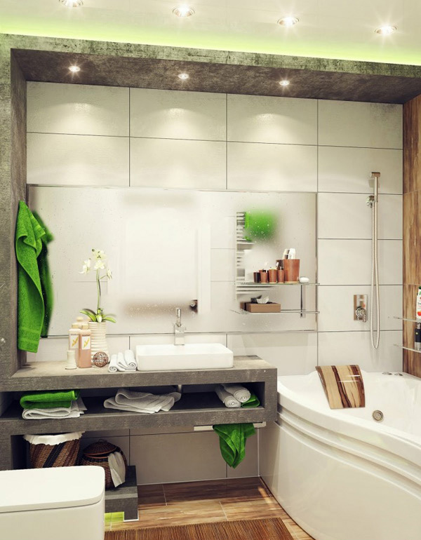 Green Small Bathroom