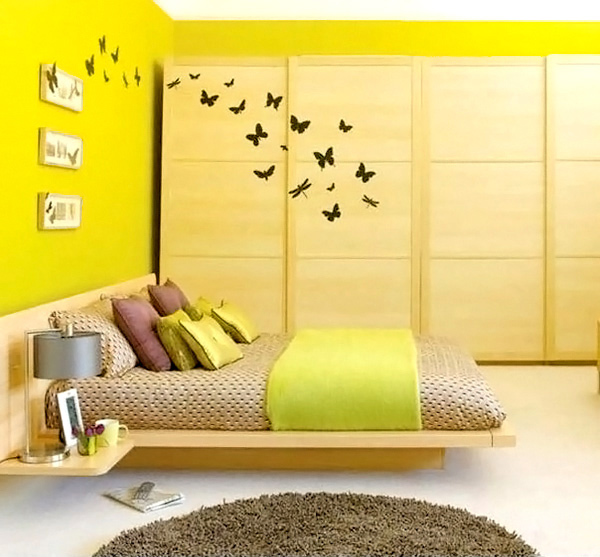 15 zesty yellow bedroom designs home design lover Yellow room design ideas
