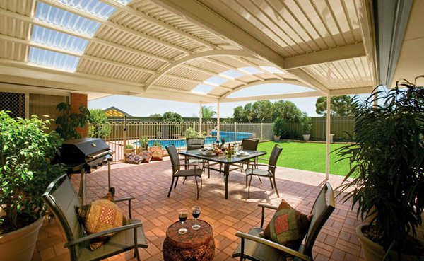 pergola seating area
