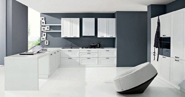 15 simple and minimalist kitchen space designs home - Classic kitchen color schemes ...
