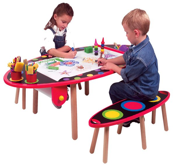 15 kids art tables and desks for little picassos home for Alex toys craft color a house children s kit