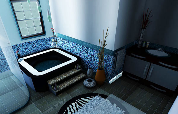 Eclectic Bathroom 1