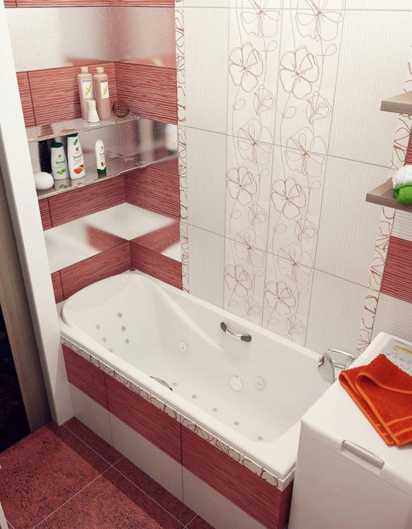 Brilliant Decoration In Red And White Bathrooms  Room Decorating Ideas Amp Home