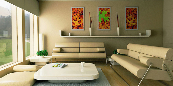 Derive your color scheme from accessories and decoration